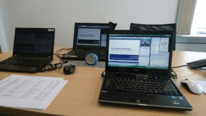 Behind the scene -- all the equipment to produce the webinar...